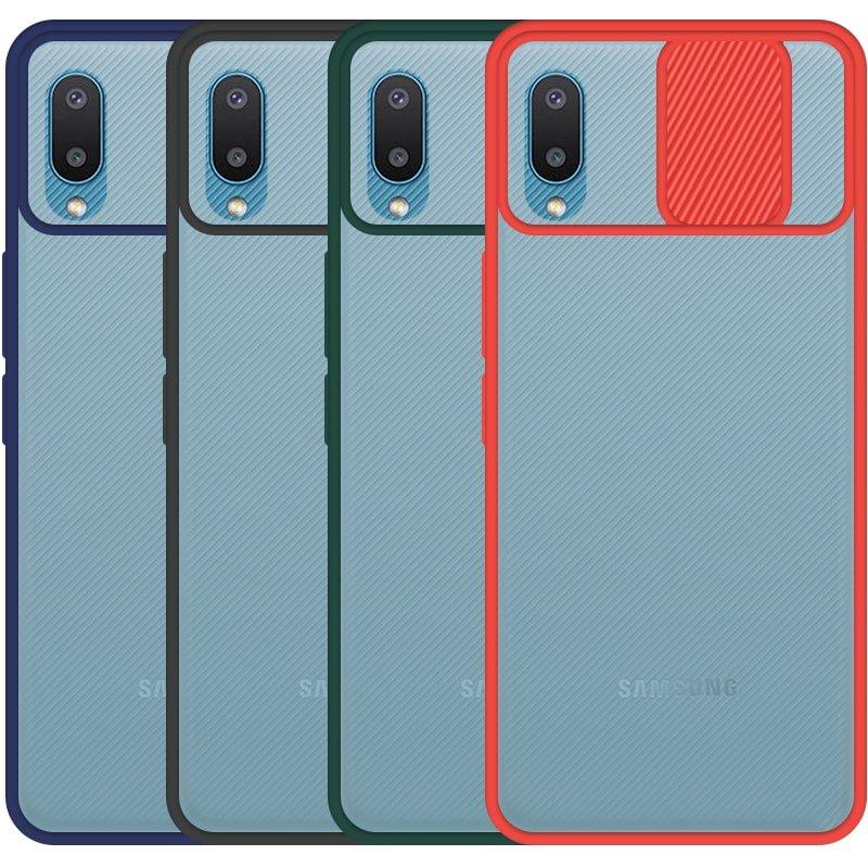 قاب محافظ مناسب برای گوشی Samsung Galaxy A02 / A022 مدل ماکرو شیلد محافظ لنزدار طرح پشت مات