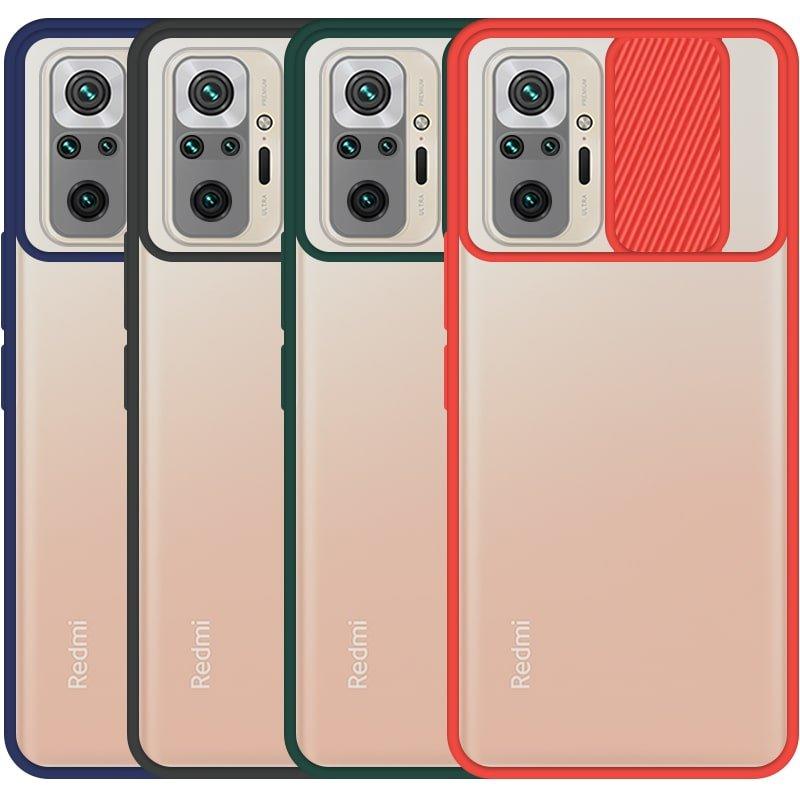 قاب محافظ مناسب برای گوشی Xiaomi Redmi Note 10 Pro Max مدل ماکرو شیلد محافظ لنزدار طرح پشت مات