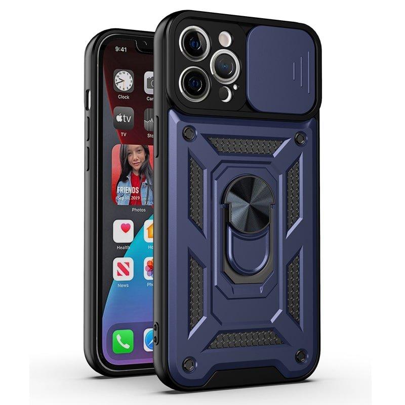 قاب اورجینال اسلاید آرمور (پرفروش ترین قاب موجود در بازار) برای تمام مدل گوشیهای برند سامسونگ , شیائومی و آیفون مجهز به محافظ لنز و اسلایدر دوربین به همراه هولدر مگنتی