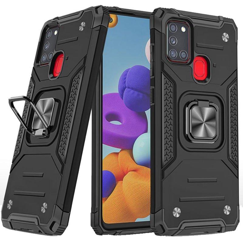 قاب اورجینال گوشی مناسب برای Samsung Galaxy A21S طرح دیفندر آرمور به همراه رینگ استند مگنتی مدل Ranger Phone
