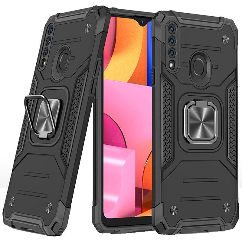 قاب اورجینال گوشی مناسب برای Samsung Galaxy A20S طرح دیفندر آرمور به همراه رینگ استند مگنتی مدل Ranger Phone (محافظ لنزدار)