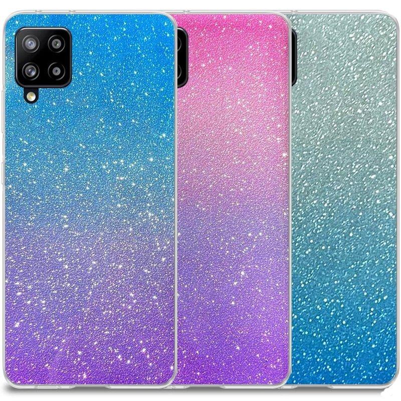 قاب اکلیلی ستاره ای مناسب برای گوشی Samsung Galaxy A12 مدل براق  ژله ای دخترانه و زنانه شاین (رنگ ثابت)
