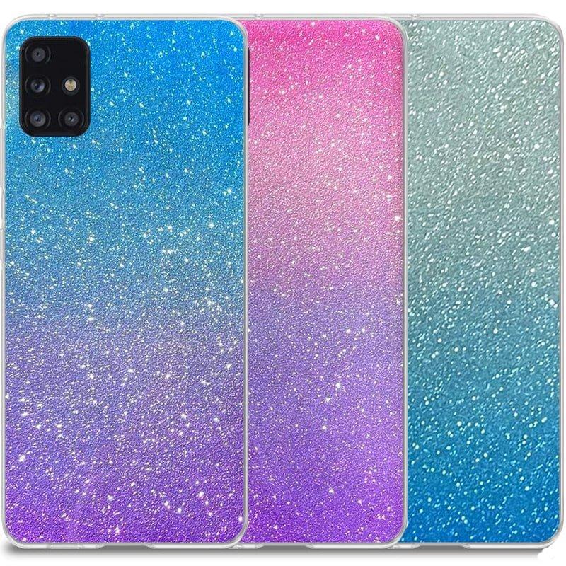 قاب اکلیلی ستاره ای مناسب برای گوشی Samsung Galaxy A71 مدل براق  ژله ای دخترانه و زنانه شاین (رنگ ثابت)
