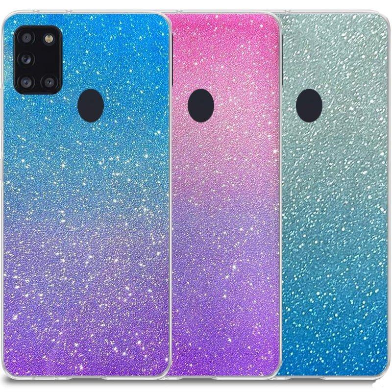 قاب اکلیلی ستاره ای مناسب برای گوشی Samsung Galaxy A21S مدل براق  ژله ای دخترانه و زنانه شاین (رنگ ثابت)