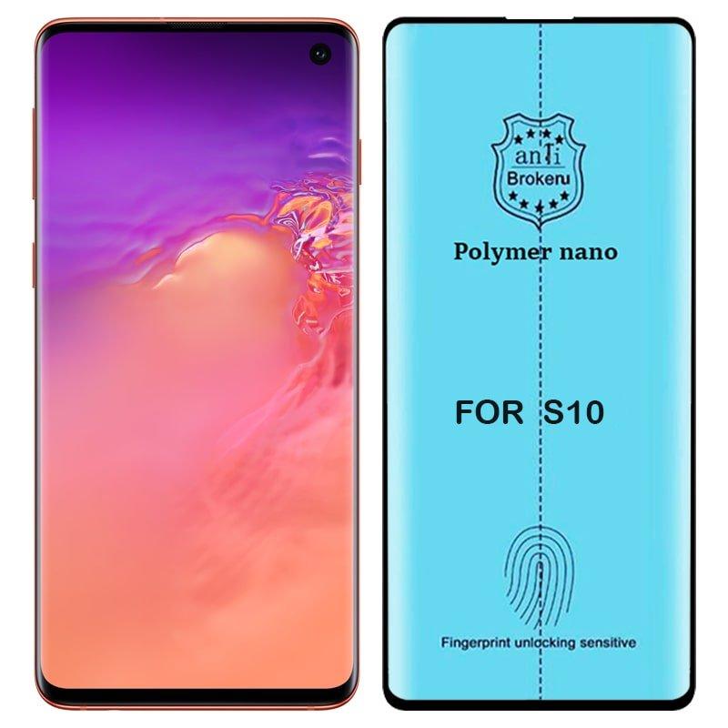 برچسب PMMA محافظ صفحه نمایش اورجینال مناسب برای گوشی Samsung Galaxy S10 مدل پلیمر نانو از برند کینگ کونگ Anti Broken Polymer Nano King Kong