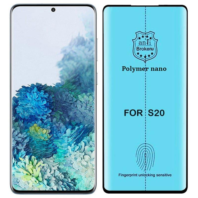 برچسب PMMA محافظ صفحه نمایش اورجینال مناسب برای گوشی Samsung Galaxy S20 مدل پلیمر نانو از برند کینگ کونگ Anti Broken Polymer Nano King Kong