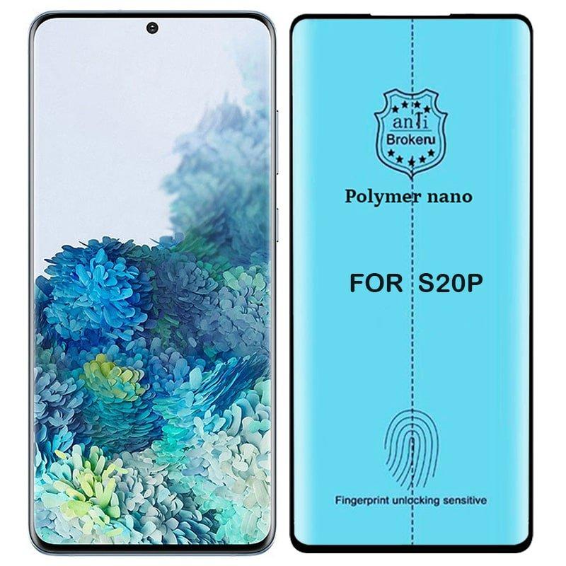 برچسب PMMA محافظ صفحه نمایش اورجینال مناسب برای گوشی Samsung Galaxy S20 Plus مدل پلیمر نانو از برند کینگ کونگ Anti Broken Polymer Nano King Kong