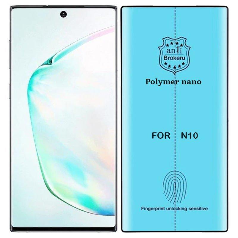 برچسب PMMA محافظ صفحه نمایش اورجینال مناسب برای گوشی Samsung Galaxy Note 10 مدل پلیمر نانو از برند کینگ کونگ Anti Broken Polymer Nano King Kong