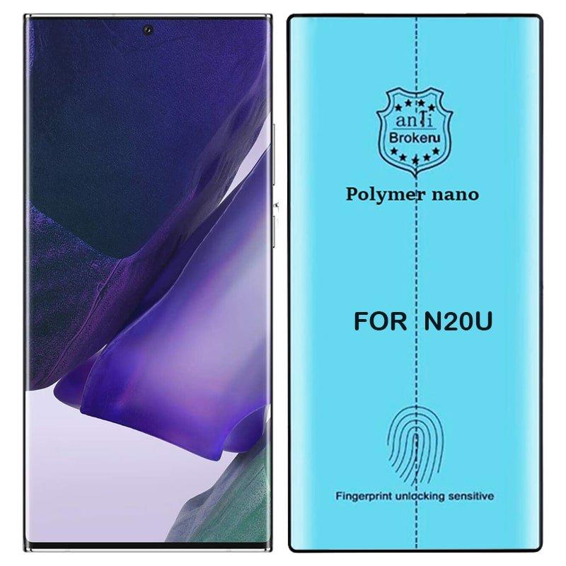 برچسب PMMA محافظ صفحه نمایش اورجینال مناسب برای گوشی Samsung Galaxy Note 20 Ultra مدل پلیمر نانو از برند کینگ کونگ Anti Broken Polymer Nano King Kong