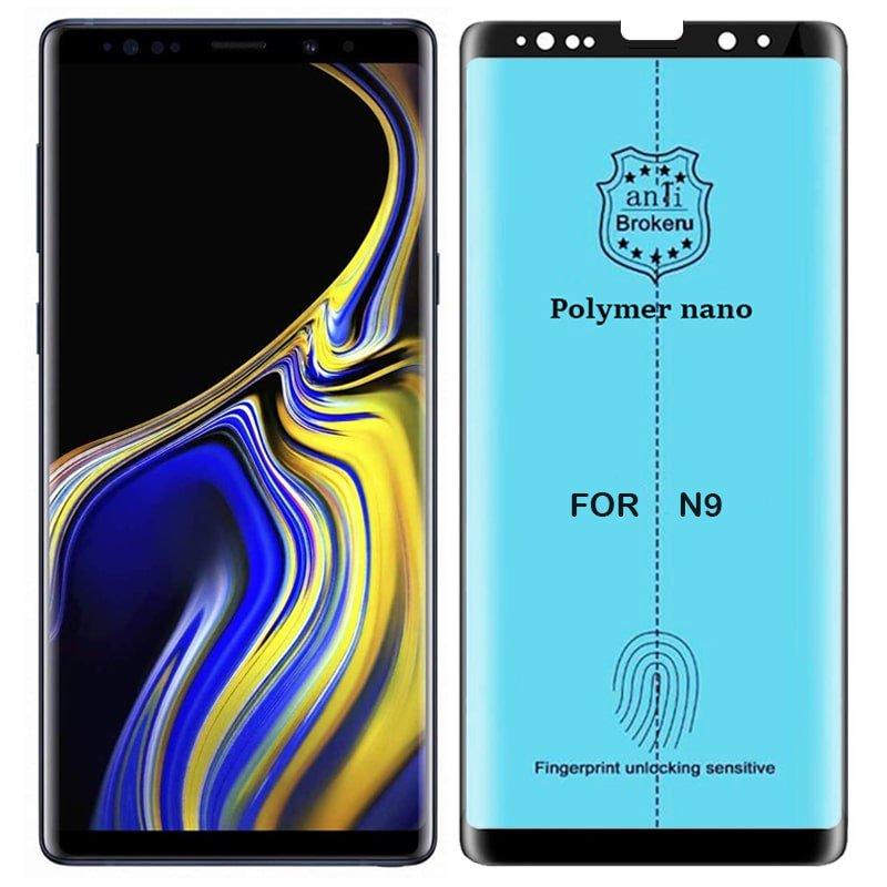 برچسب PMMA محافظ صفحه نمایش اورجینال مناسب برای گوشی Samsung Galaxy Note 9 مدل پلیمر نانو از برند کینگ کونگ Anti Broken Polymer Nano King Kong