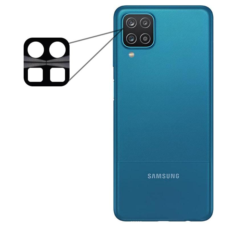 محافظ لنز فلزی برای دوربین Samsung Galaxy A12 مدل آلومینیومی با ضخامت 0.5 میلیمتر Alloy Cap Lens Camera