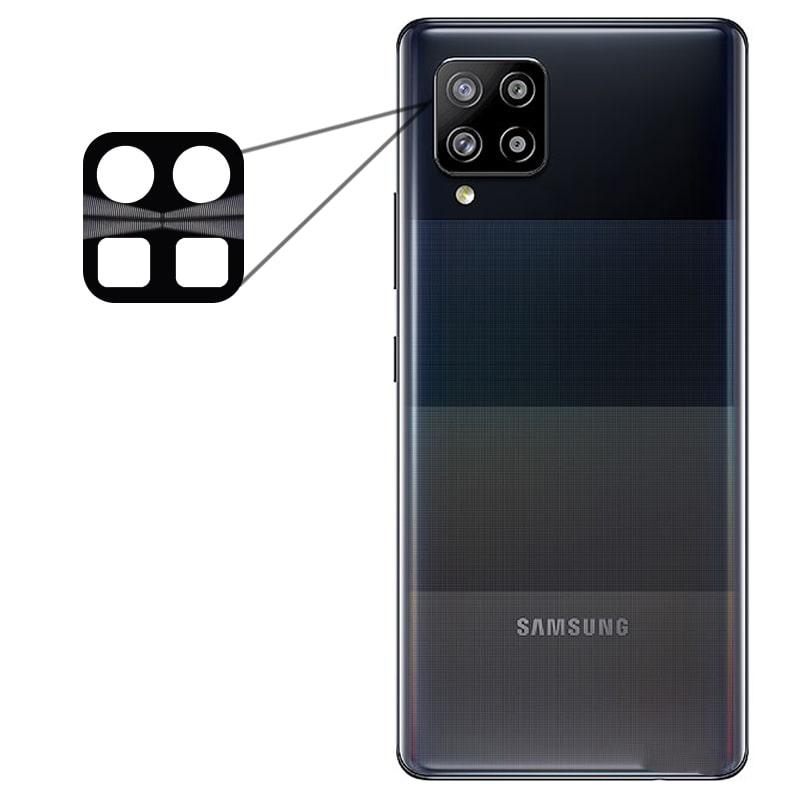 محافظ لنز فلزی برای دوربین Samsung Galaxy A42 مدل آلومینیومی با ضخامت 0.5 میلیمتر Alloy Cap Lens Camera