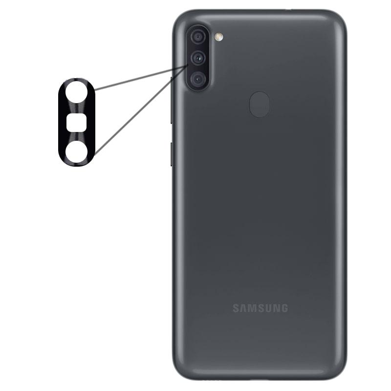 محافظ لنز فلزی برای دوربین Samsung Galaxy A11 مدل آلومینیومی با ضخامت 0.5 میلیمتر Alloy Cap Lens Camera