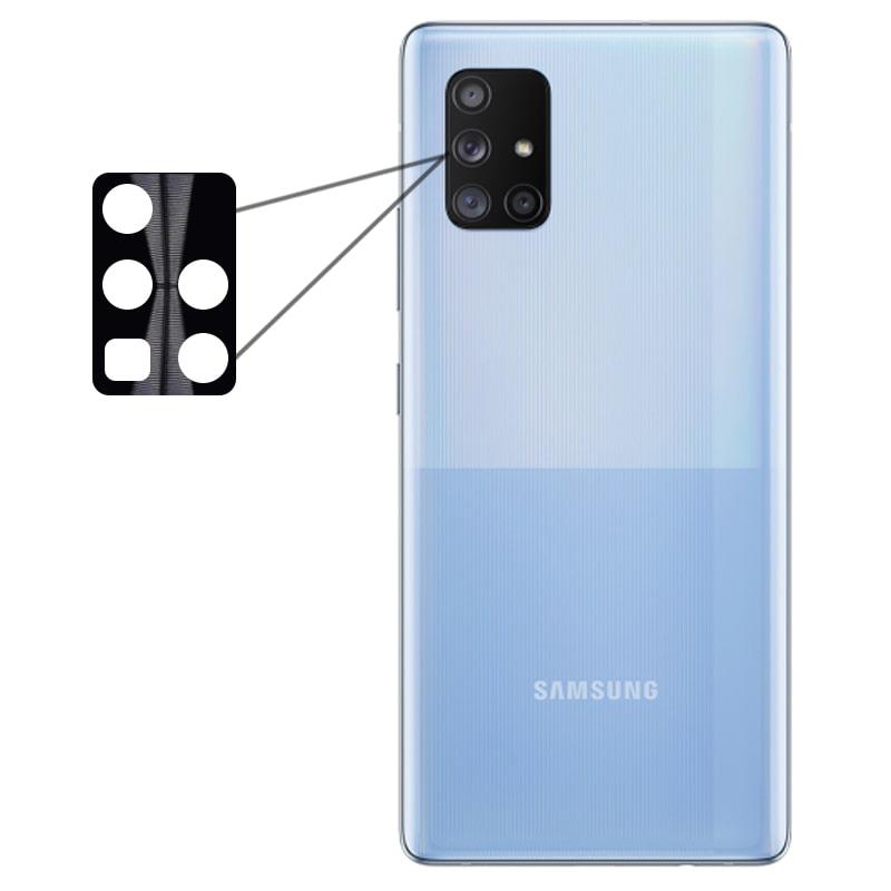 محافظ لنز فلزی برای دوربین Samsung Galaxy A71 مدل آلومینیومی با ضخامت 0.5 میلیمتر Alloy Cap Lens Camera
