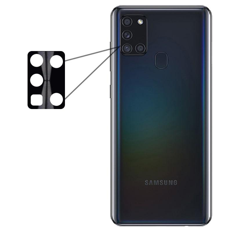 محافظ لنز فلزی برای دوربین Samsung Galaxy A21S مدل آلومینیومی با ضخامت 0.5 میلیمتر Alloy Cap Lens Camera