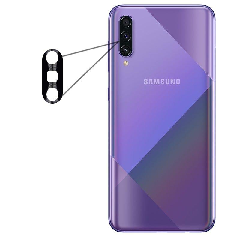 محافظ لنز فلزی برای دوربین Samsung Galaxy A50S / A50 / A30S مدل آلومینیومی با ضخامت 0.5 میلیمتر Alloy Cap Lens Camera
