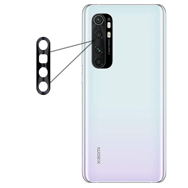 محافظ لنز فلزی برای دوربین Xiaomi MI Note 10 Lite مدل آلومینیومی با ضخامت 0.5 میلیمتر Alloy Cap Lens Camera