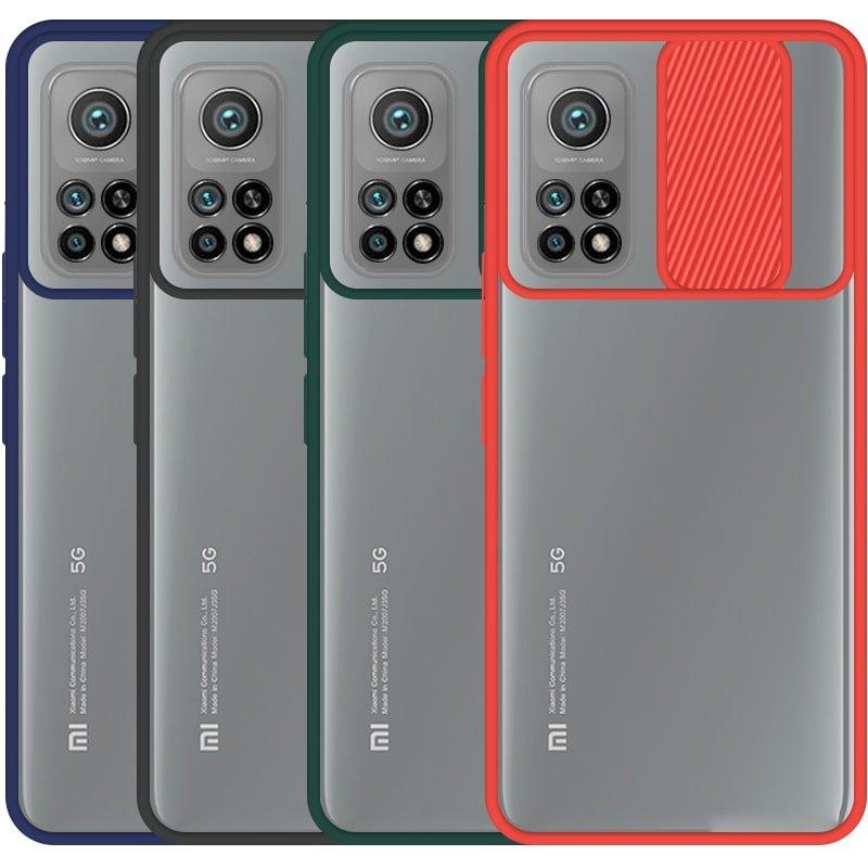 قاب محافظ مناسب برای گوشی Xiaomi MI 10T / 10T Pro مدل ماکرو شیلد محافظ لنزدار طرح پشت مات