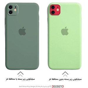 قاب IPHONE 11 سیلیکونی زیربسته محافظ لنز اورجینال برند اپل