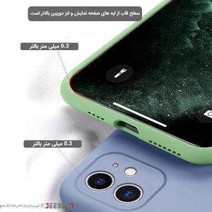 قاب  IPHONE 11pro max سیلیکونی زیربسته محافظ لنز برند اپل