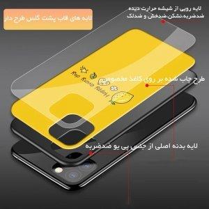 قاب IPHONE 11 پشت گلس طرح دار به همراه پاپ سوکت مدل لاولی