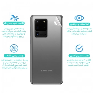 برچسب نانو پشت گوشی IPHONE 11 Pro مدل فول کاور شفاف آنتی شوک
