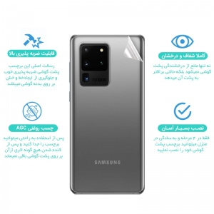 برچسب نانو پشت گوشی Samsung Galaxy A70 / A70S مدل فول کاور شفاف آنتی شوک