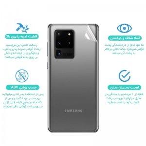 برچسب نانو پشت گوشی Samsung Galaxy S20 مدل فول کاور شفاف آنتی شوک
