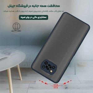 کاور گوشی XIAOMI POCO X3 NFC هیبریدی مدل پشت مات محافظ لنزدار.jpg