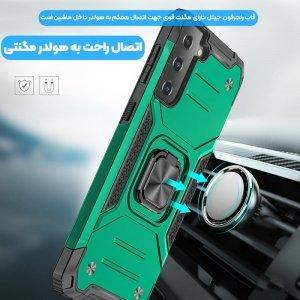 قاب اورجینال گوشی مناسب برای Samsung Galaxy S21 Plus طرح آرمور به همراه رینگ استند مدل رنجر فون.jpg