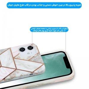 قاب ماربل مناسب برای گوشی Samsung Galaxy A71 مدل سنگی مات همراه با پاپ سوکت.jpg