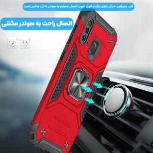 قاب اورجینال گوشی مناسب برای Samsung Galaxy A11 طرح آرمور به همراه رینگ استند مدل رنجر فون.jpg