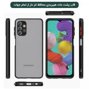 قاب و کاور گوشی Samsung Galaxy A32 5G هیبریدی مدل پشت مات محافظ لنزدار