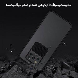 قاب محافظ مناسب برای گوشی Xiaomi POCO X3 nfc مدل ماکرو شیلد محافظ لنزدار طرح پشت مات