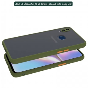 کاور گوشی Samsung Galaxy A10S هیبریدی مدل پشت مات محافظ لنزدار.jpg