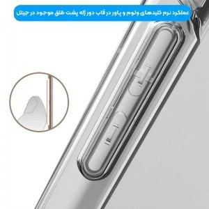 گارد محافظ ایربگ دار برای گوشی Xiaomi Redmi 9 مدل دور ژله ای شفاف پشت طلق کریستالی.jpg