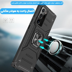 قاب اورجینال گوشی مناسب برای Samsung Galaxy A02 / A022 طرح دیفندر آرمور به همراه رینگ استند مگنتی مدل Ranger Phone