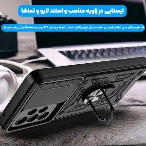 قاب اورجینال اسلاید آرمور مناسب برای گوشی Samsung Galaxy A72 5G / 4G طرح محافظ لنزدار کشویی مجهز به رینگ استندشو و مگنتی.jpg