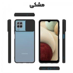 قاب محافظ مناسب برای گوشی Samsung Galaxy A12 مدل ماکرو شیلد محافظ لنزدار طرح پشت مات