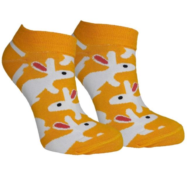 جوراب مچی زرد خرگوشی