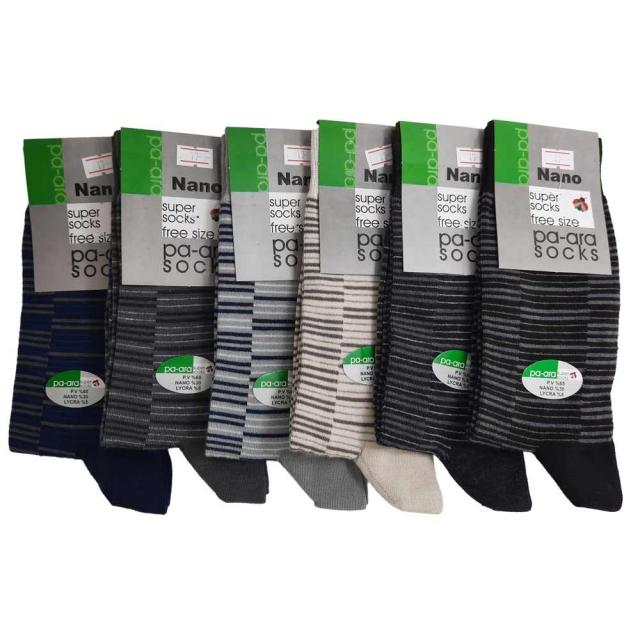 جوراب طرحدار مردانه پاآرا