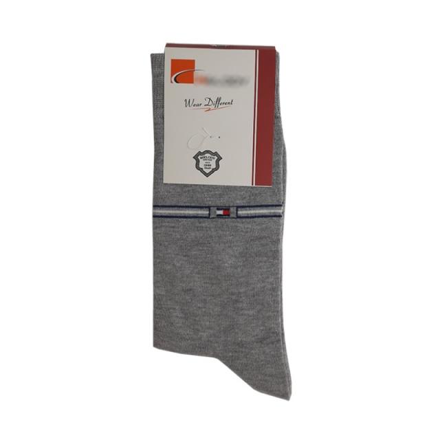 جوراب مردانه ساقدار طوسی طرح تامی