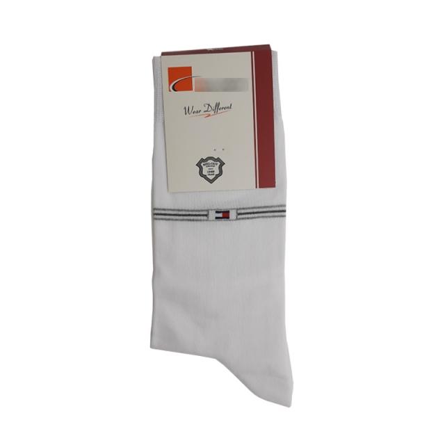جوراب مردانه ساقدار سفید طرح تامی