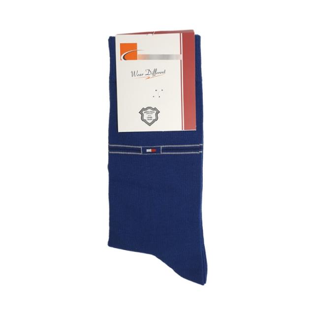 جوراب مردانه ساقدار رنگ آبی طرح تامی