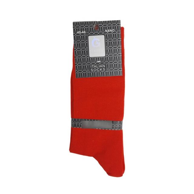 جوراب مردانه ساقدار رنگ قرمز