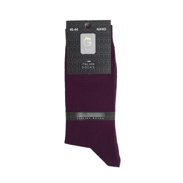 جوراب مردانه ساقدار رنگ بنفش تیره