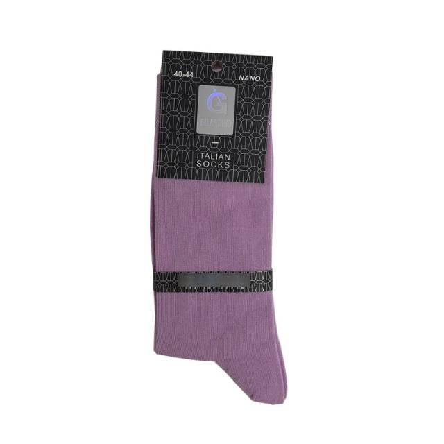 جوراب مردانه ساقدار رنگ بنفش روشن