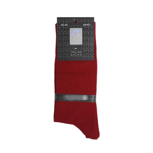 جوراب مردانه ساقدار رنگ جگری