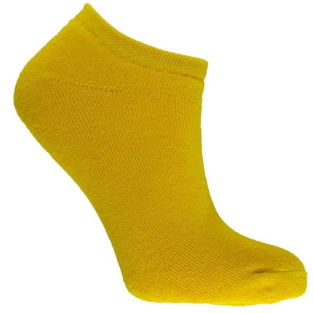 جوراب مچی حوله ای زرد