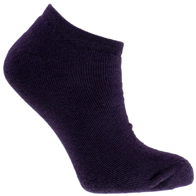 جوراب مچی حوله ای بنفش تیره